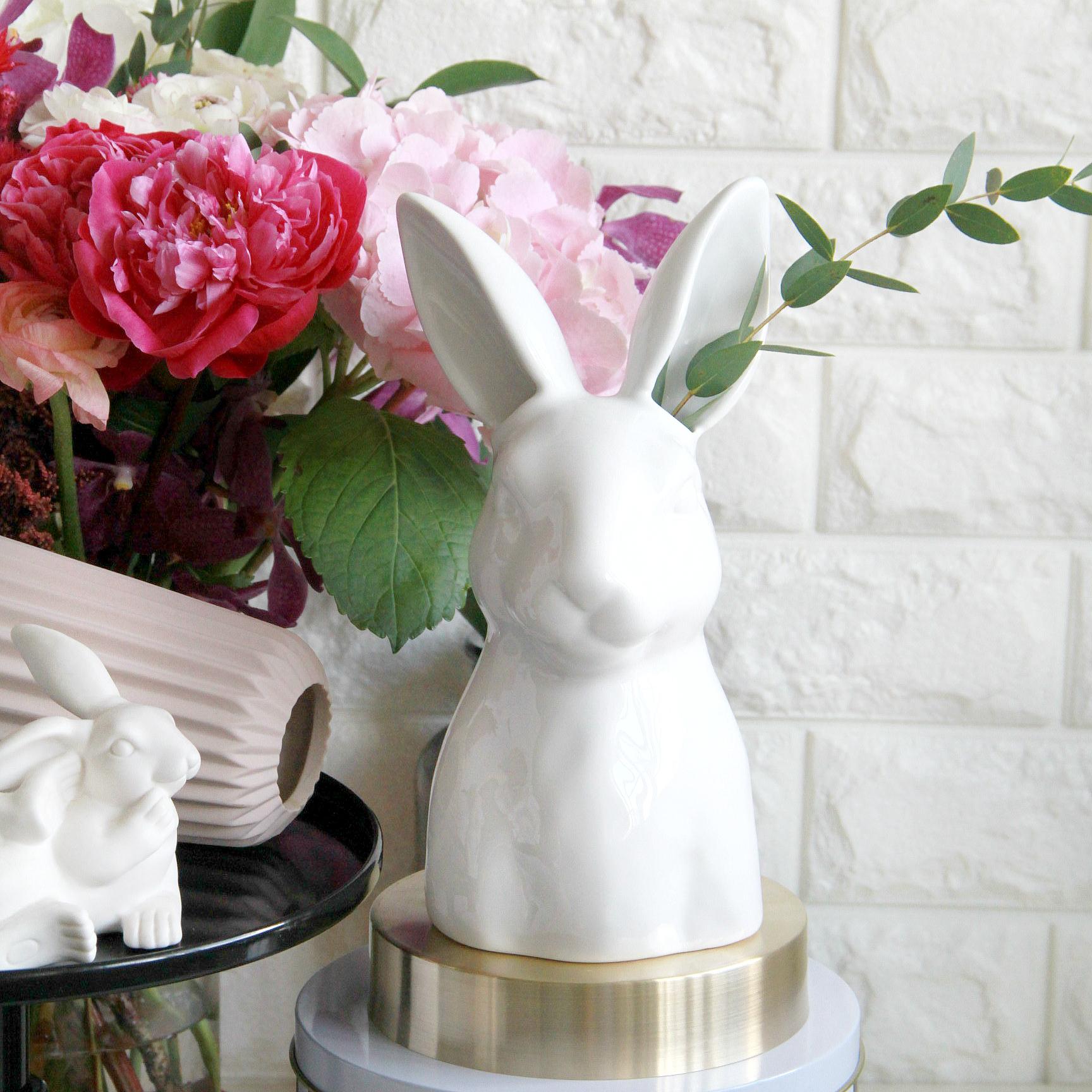 White Rabbit Ear Vase