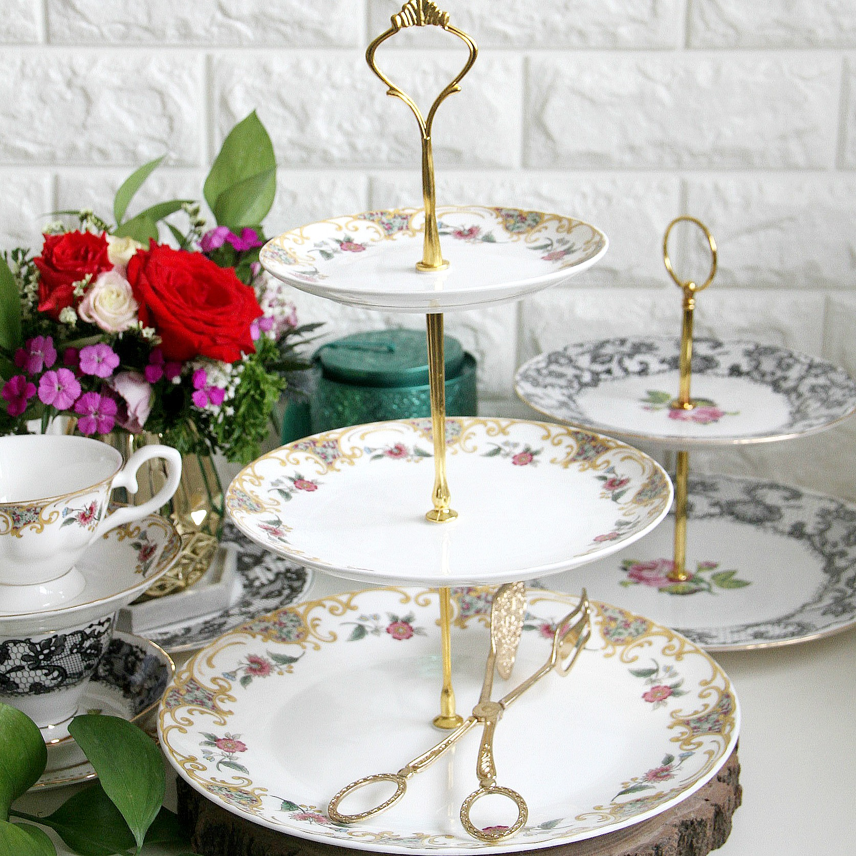 3 Tier Continental Oberon Cake Stand