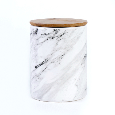 Grey White Marble Canister Truffula Forest
