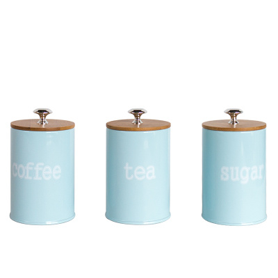 SET OF 3 KITCHEN CANISTERS