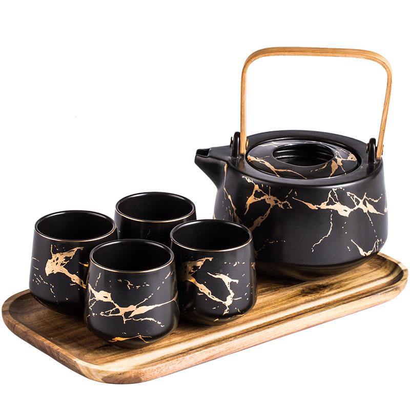 6 Pcs Japanese Inspired Teapot Set